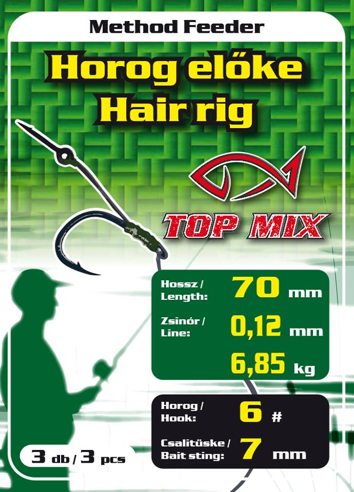 Feeder nádväzec- METHOD TOP MIX HÁČIK no6/7mm osteň