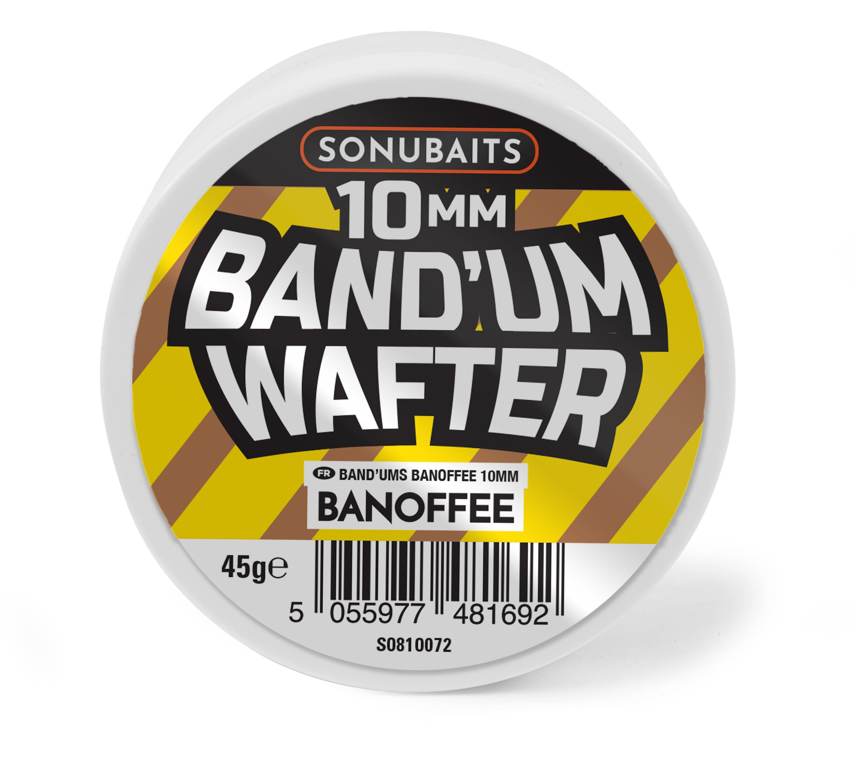 "SONUBAITS BAND""UM WAFTERS 10 MM BANOFFEE 45G"