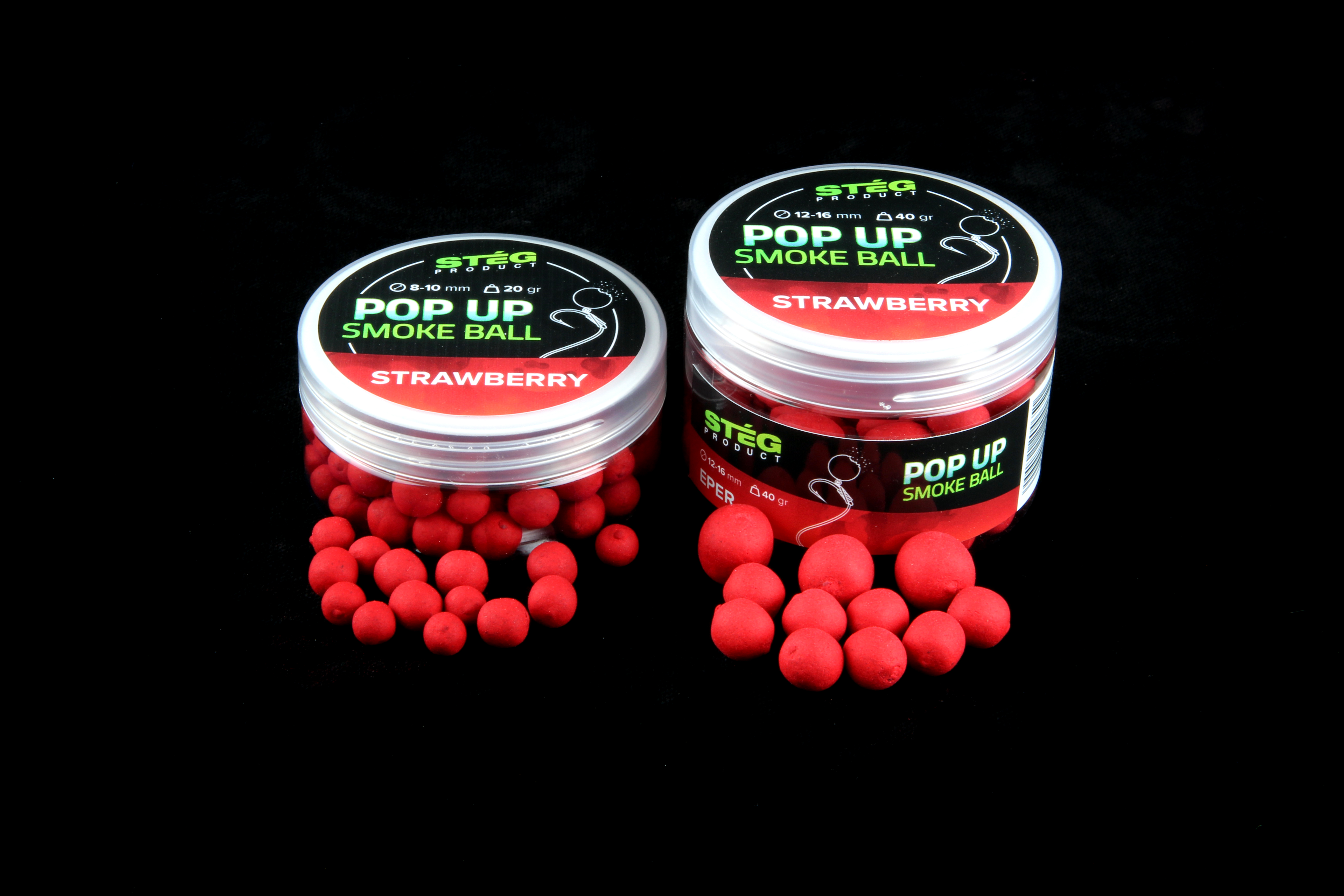 Stég Product Pop Up Smoke Ball 12-16 mm STRAWBERRY 40gr (SP171302)