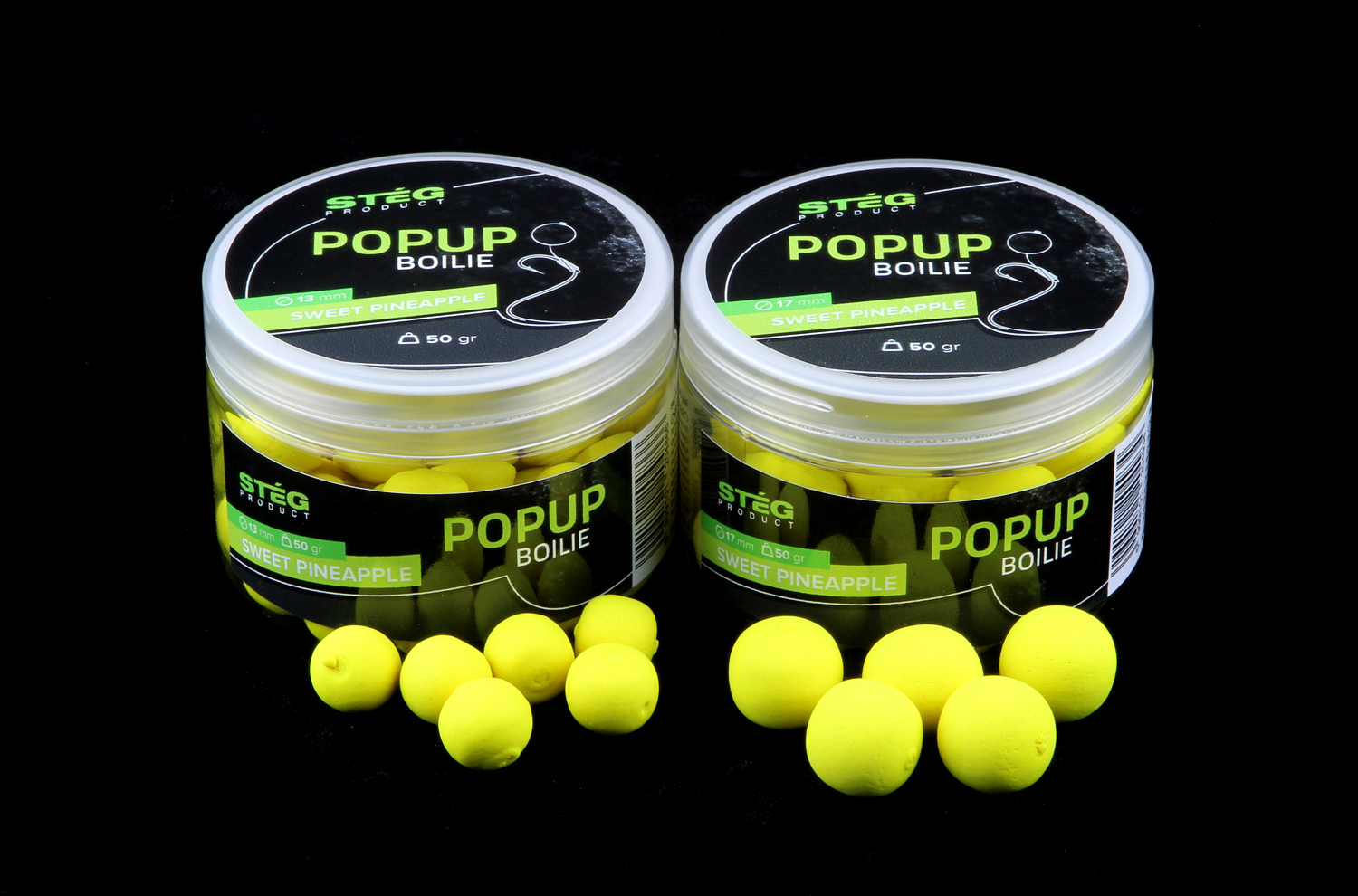STEG FLUO POP UP BOILIE 13MM - SWEET PINEAPPLE
