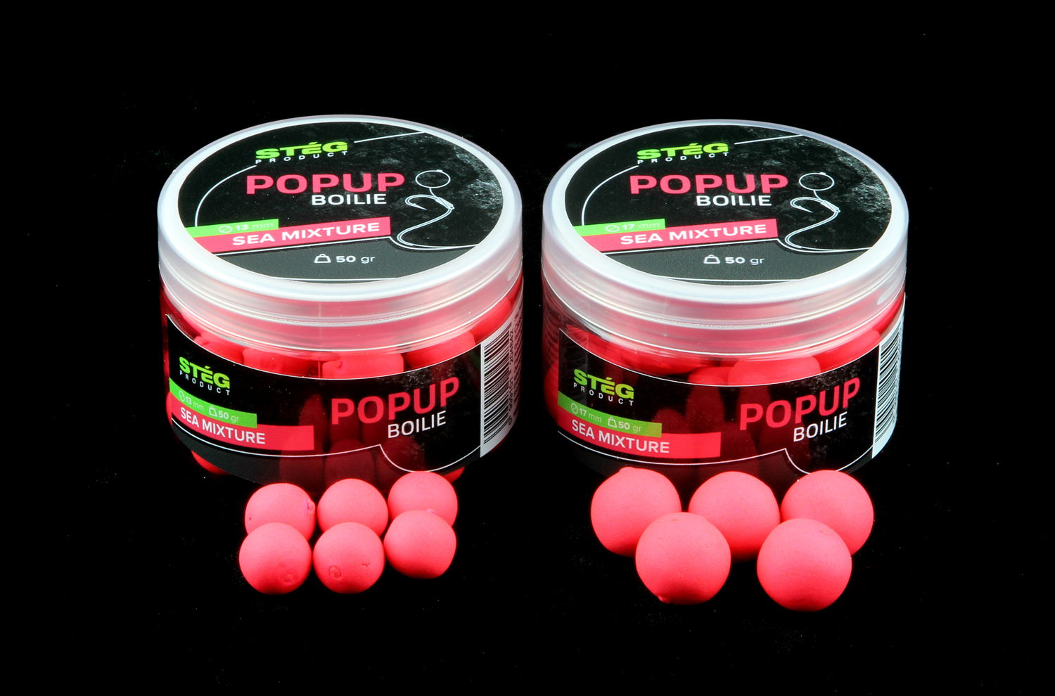 STEG FLUO POP UP BOILIE 13MM - SEA MIXTURE