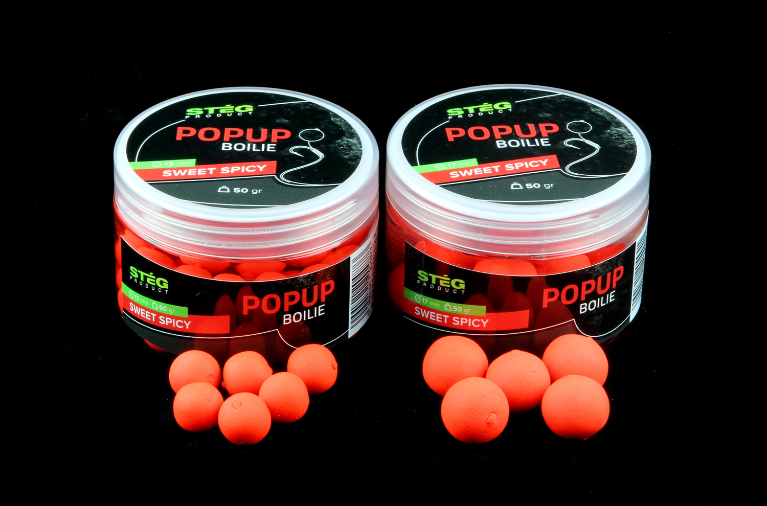 STEG FLUO POP UP BOILIE 13MM - SWEET SPICY