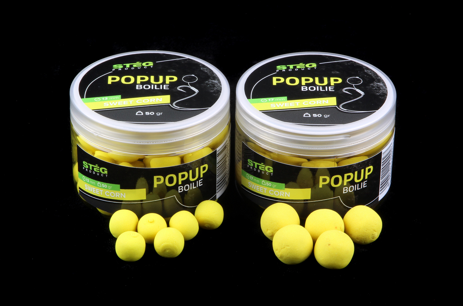 STEG FLUO POP UP BOILIE 13MM - SWEETCORN