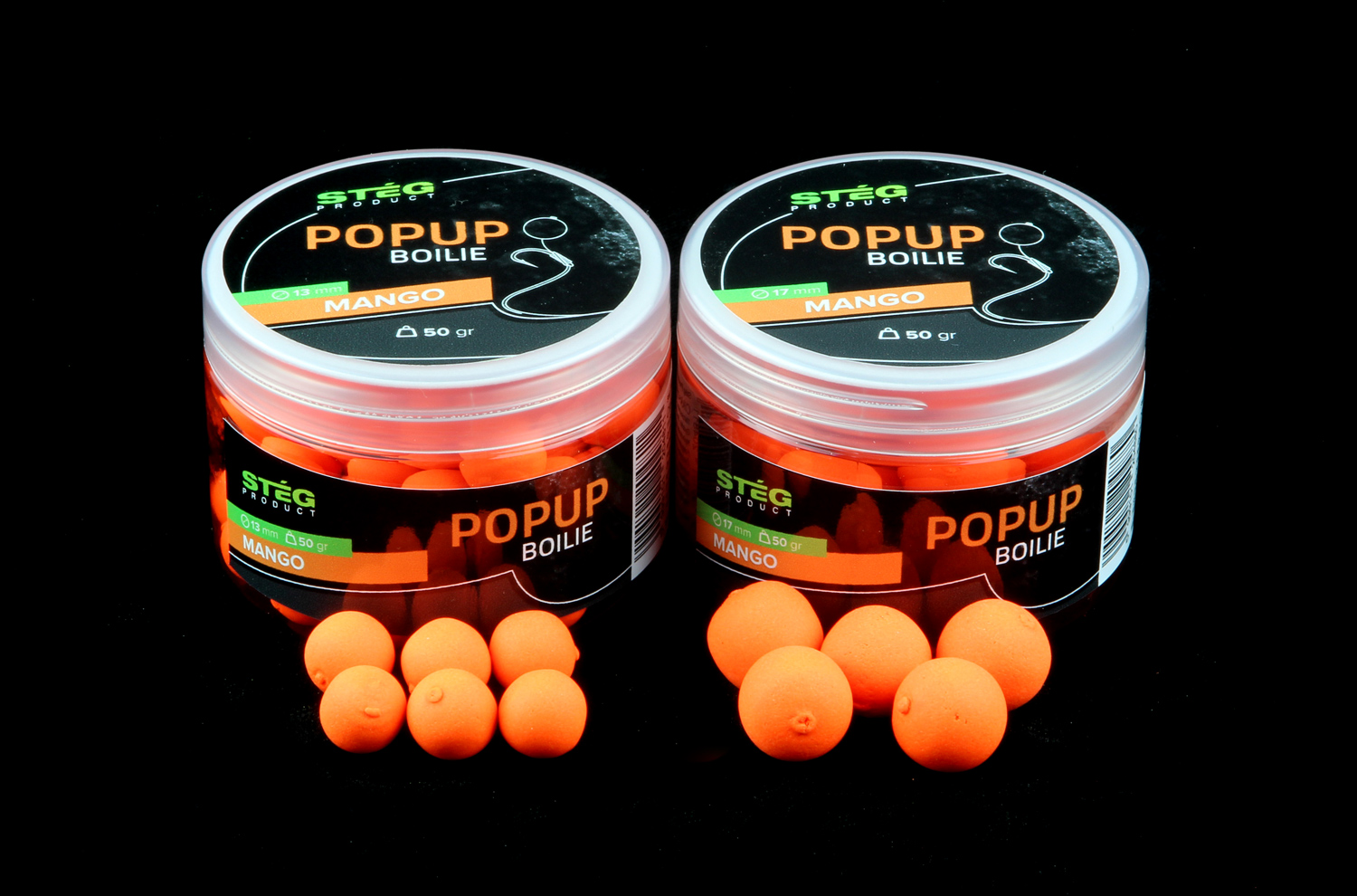 STEG FLUO POP UP BOILIE 13MM - MANGO