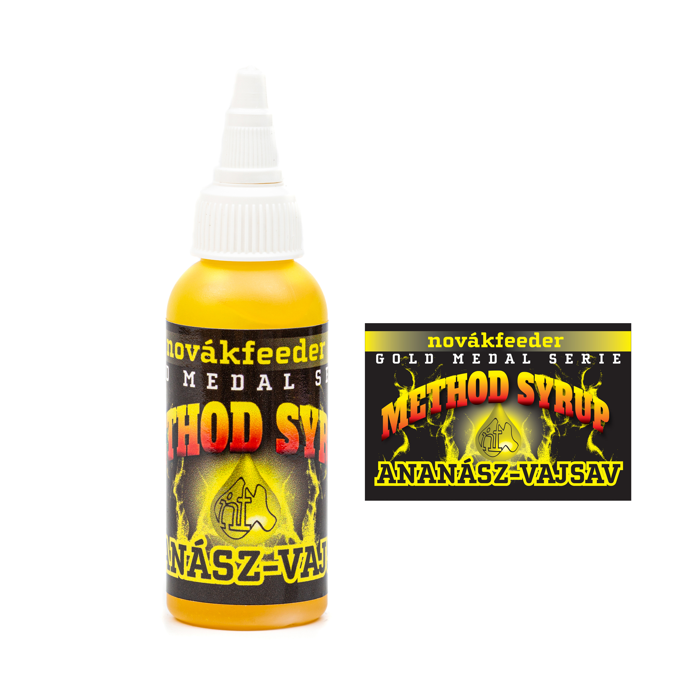 Novák Feeder Method syrup 60ml - Ananas-N-Butyric